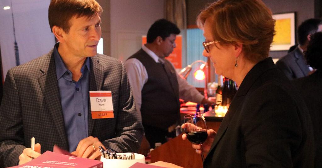 ABM book reception - Dave Munn signing books